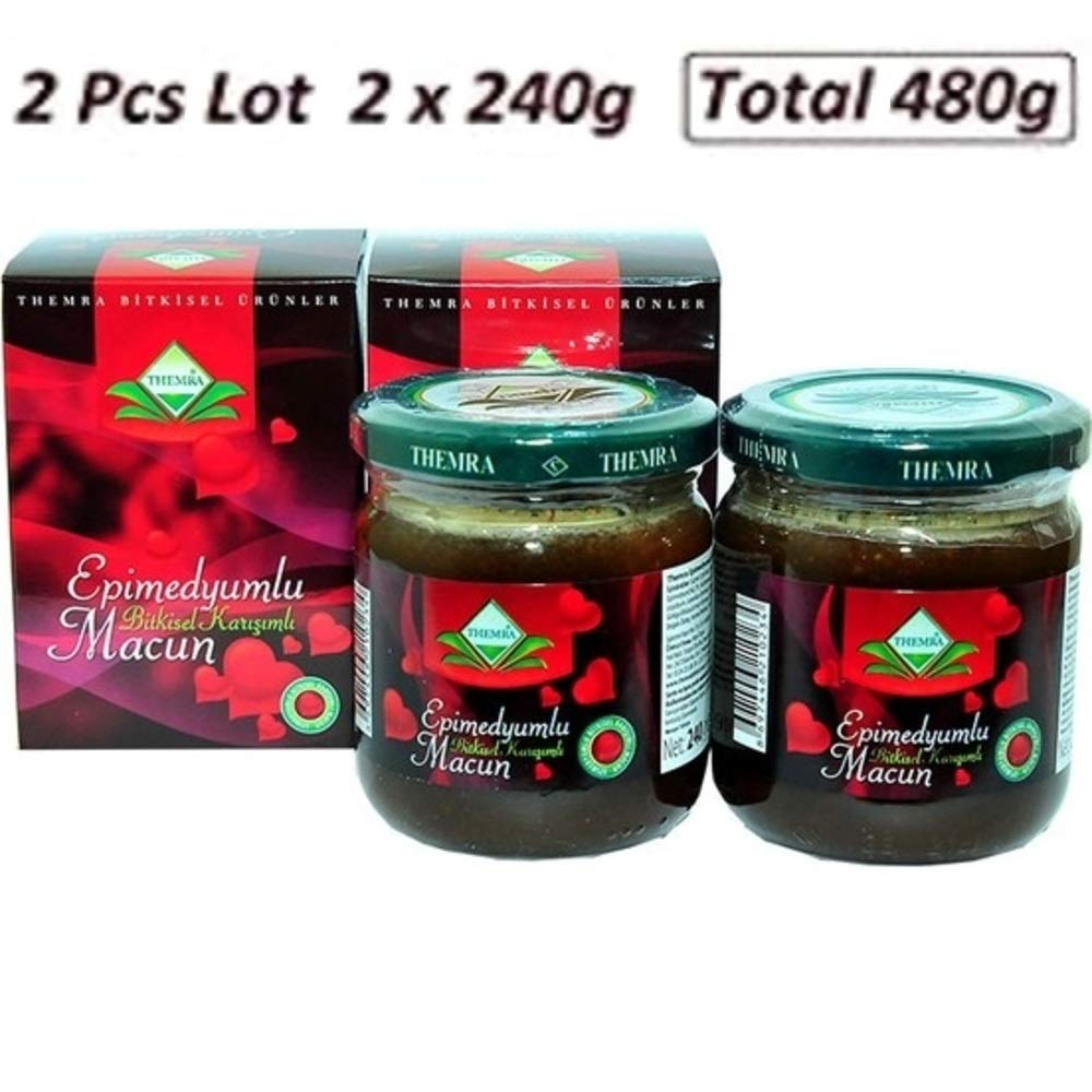 2pcs Themra Epimedium Paste Macun Natural Herbal Mix with Ginseng 240g X 2