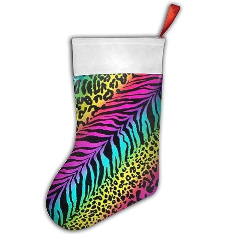 Rainbow cebra Animal Calcetines de medias bolsa de regalo de Navidad decoración del hogar 1 pcs