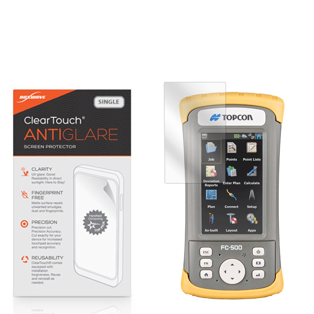 Topcon FC-500 Screen Protector, BoxWave [ClearTouch Anti-Glare] Anti-Fingerprint, Scratch Proof Matte Film Shield for Topcon FC-500 by BoxWave