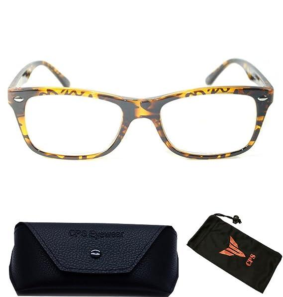 ebe5170af61f Amazon.com  Designer Nerd Square Leopard BrownReading Glasses Women ...