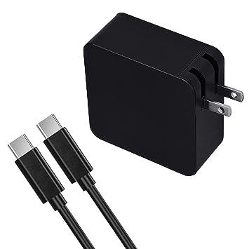 Amazon.com: VEONES - Cargador USB C para ordenador portátil ...