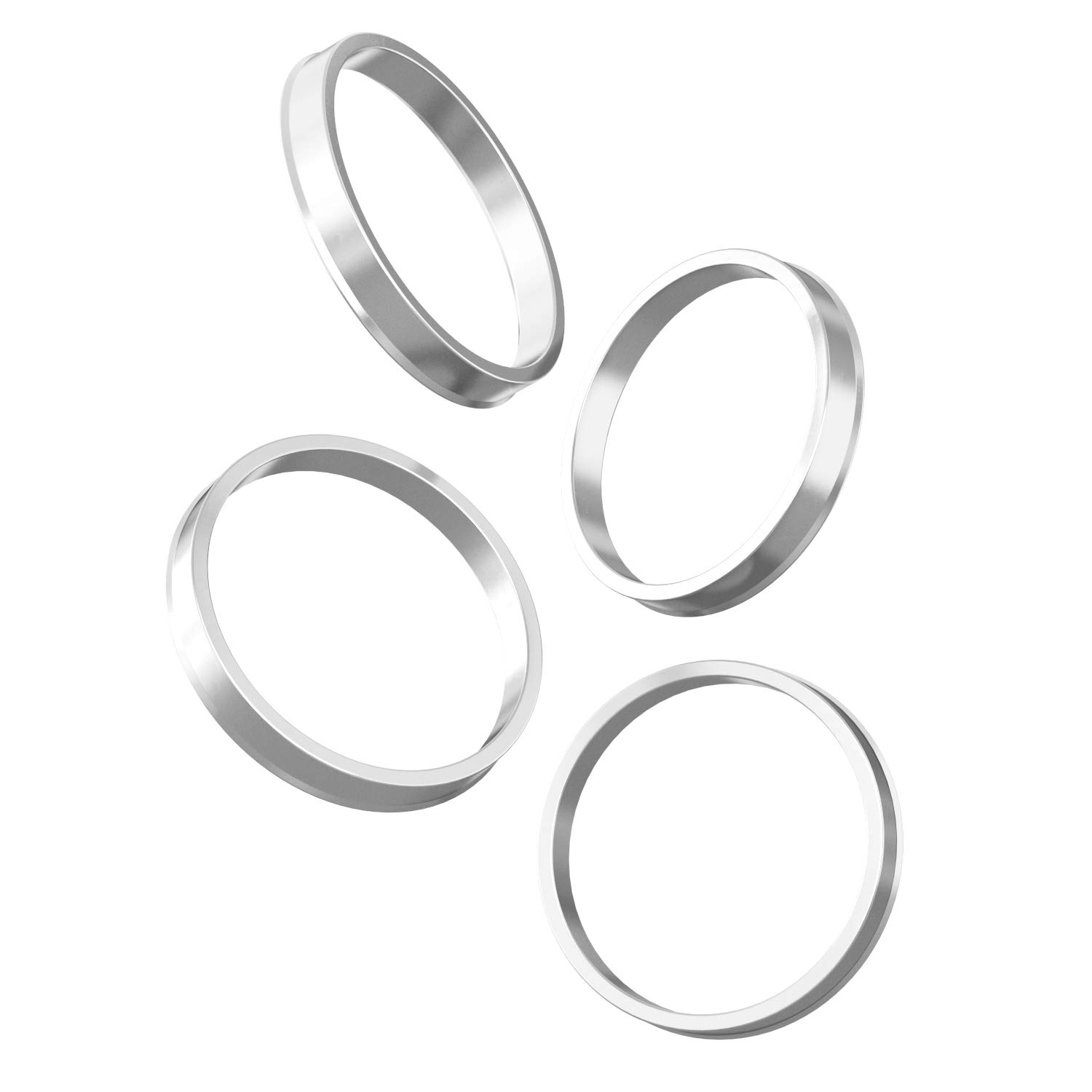 Pack of 4 Silver Aluminum Hubrings Fits many Jeep Dodge Chrysler Vehicles - 71.6mm ID to 72.6mm OD Fits on 71.6mm Hubs /& 72.6mm Bore Wheels Hubcentric Rings