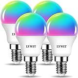 LVWIT Bombillas LED Golf E14 RGB Inteligente WiFi 5W 470 Lm, Lámpara Regulable Multicolor Bombilla Funciona con Alexa…