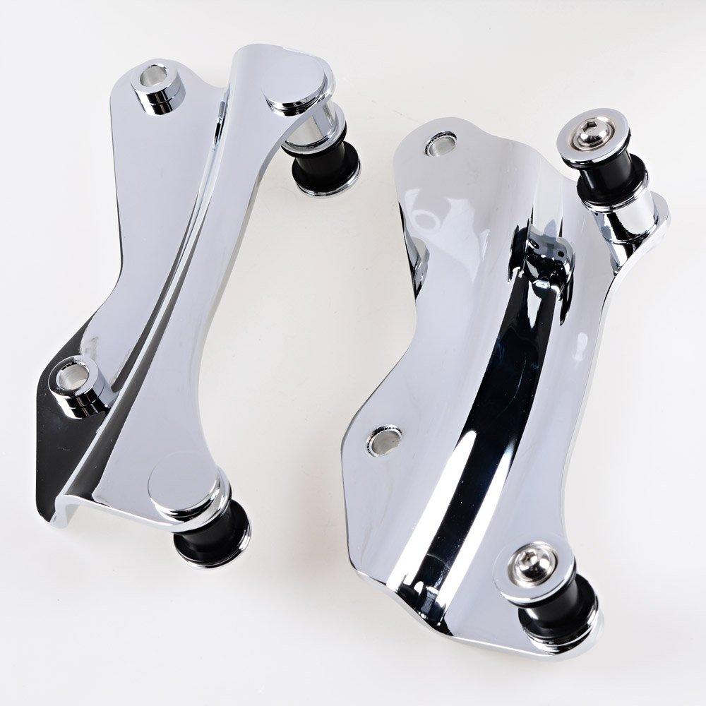 4-Point Docking Hardware Kit Fit 14-16 Harley Electra Street Road Glide (Chrome) 4 Point Docking Hardware COMINU009281