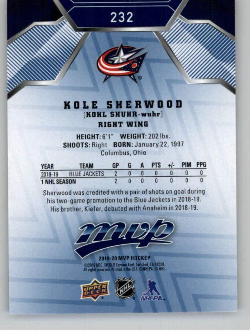 KOLE SHERWOOD 2019-20 19-20 UPPER DECK MVP ROOKIE RC SP #232 COLUMBUS