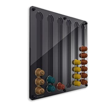 PlexiDisplays 143222 - Dispensador de cápsulas de Nespresso, color negro: Amazon.es: Hogar