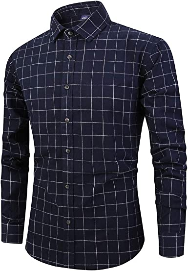 Hombre de Camisa Slim Fit para Traje, Business, Bodas, Tiempo Libre – Manga Larga Camisas para Hombres Camisa de Manga Larga: Amazon.es: Ropa y accesorios