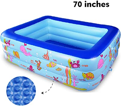 Amazon.com: WateBom - Piscina hinchable con suelo hinchable ...