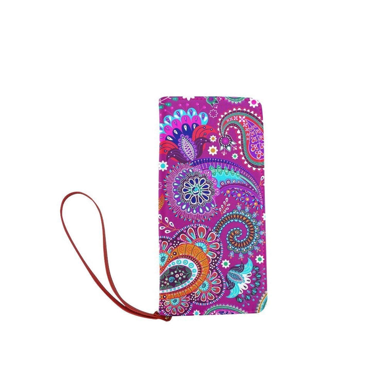 Women's Bohemian Hippie Clutch Wallet Purse with Wrist Strap