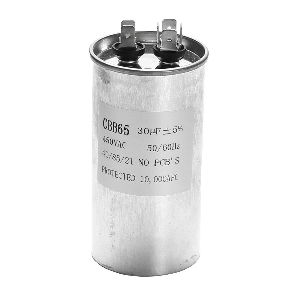 Bluelover 15-50Uf Motor Condensador Cbb65 450Vac Aire Acondicionado Compresor Start Capacitor-C: Amazon.es: Hogar