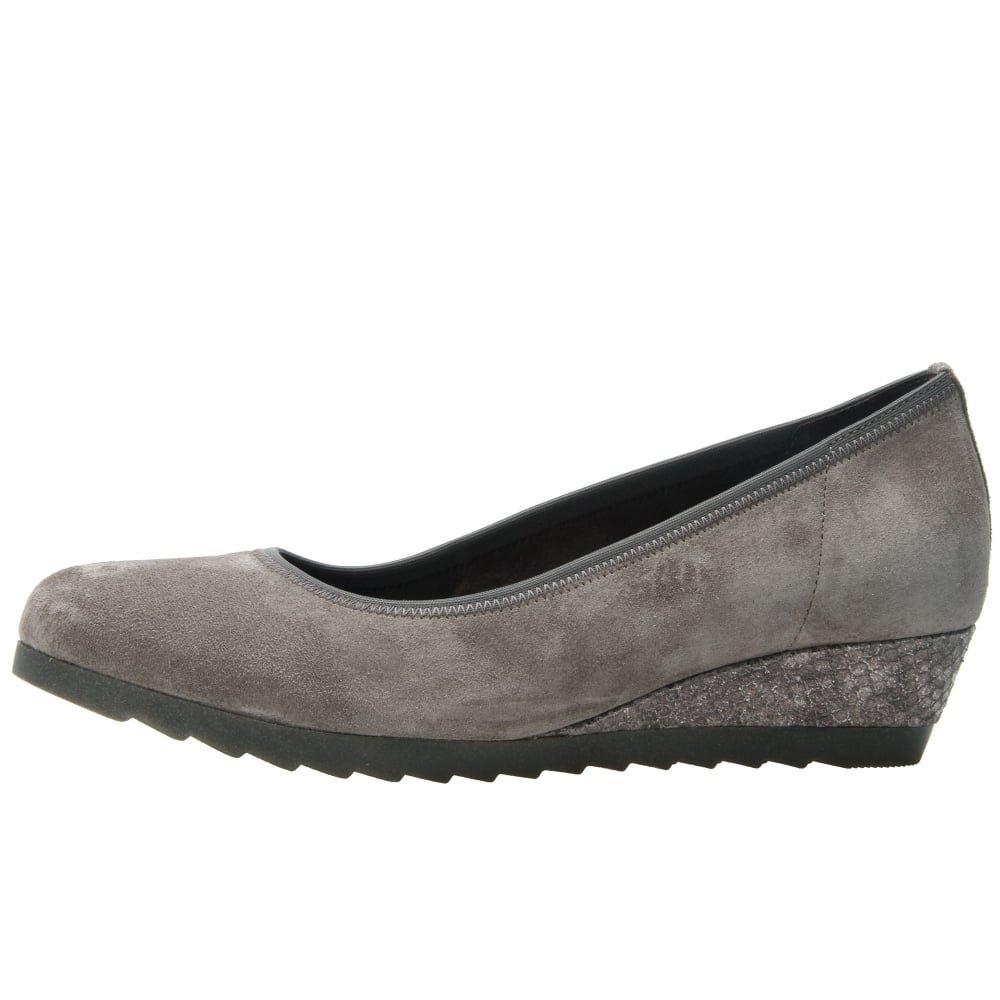 Gabor Schuhes 52.6 Geschlossene Damen Geschlossene 52.6 Pumps Anthracite/schwarz Suede 3063b6