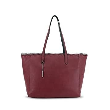 Simple Designed Handbags for Girls LYDC London Two Shoulder Straps with  Chaining Details and Zip fastener bdef3200ac