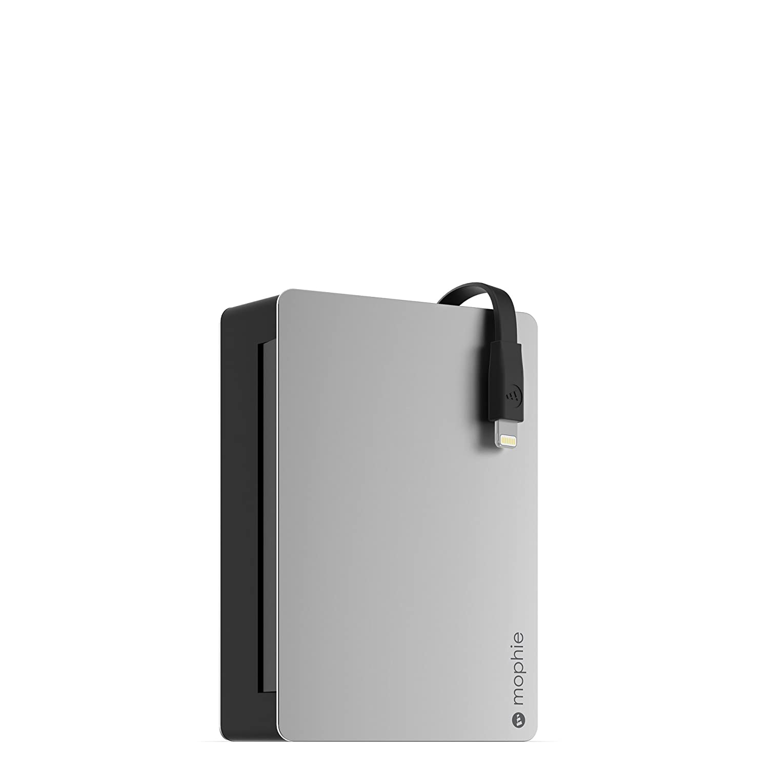 mophie powerstation Plus 2x with Integrated Lightning Connector Cable (3, 000mAh) - Black PWRSTION-3CL-BLK
