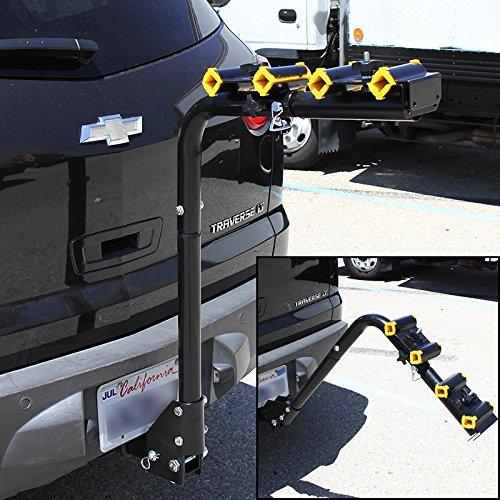 XtremepowerUS 4 Bike Hitch Mount Swing down Carrier Bicycle Car Rack Car/truck/suv by XtremepowerUS (Image #1)