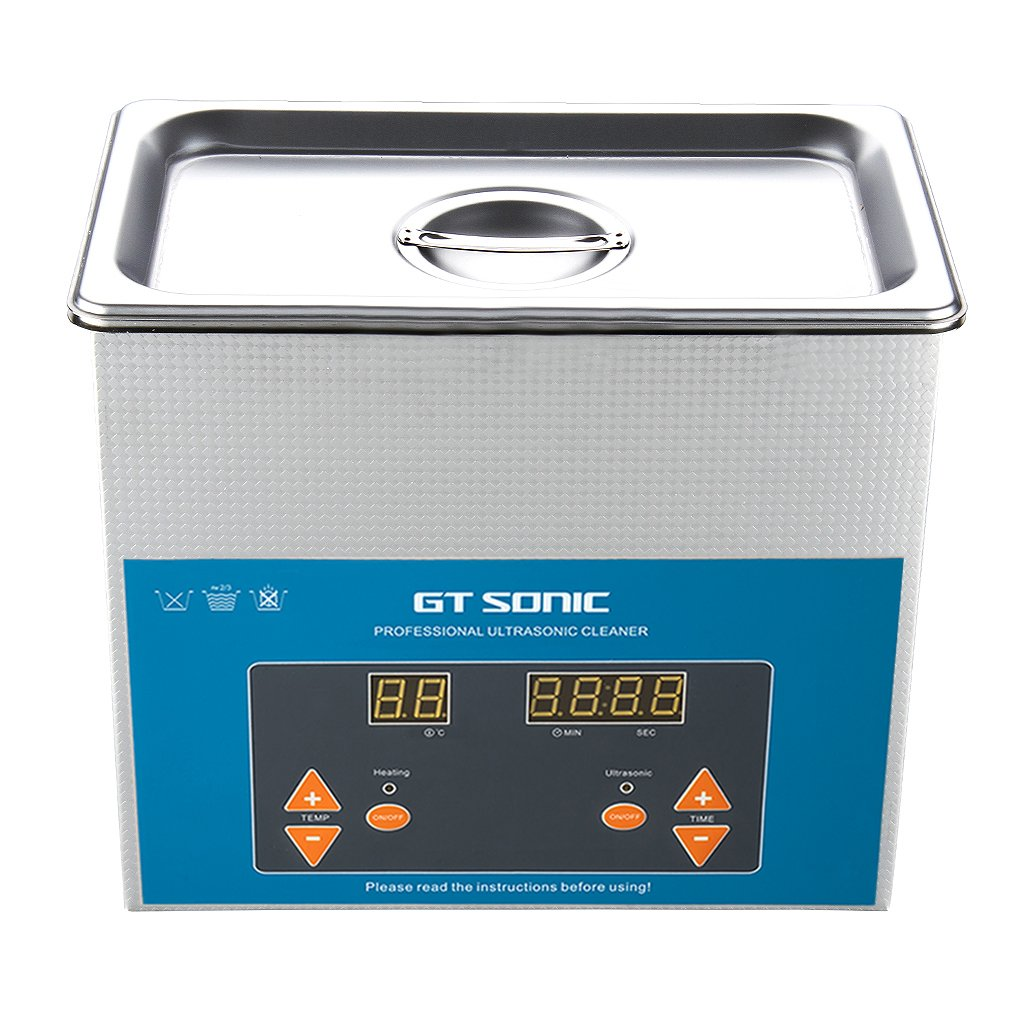GT Sonic 2 Liter Digital Display Ultrasonic Cleaner with Timer Setting Adjutable Used for Scientific Lab, Industry, Jewelry Manufacturing, Medical and Dental Labs
