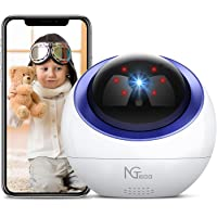 Baby Monitor, NGTeco WiFi Pet Camera Wireless for Home Security, 1080P Pan Tilt Cam Indoor IP Nanny Camera with Night…
