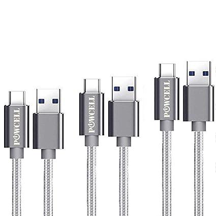 3 Pack 3/6/10 Feet USB Type C Charger Cord for Google Pixel 3 XL Pixel 2 Pixel XL Pixel 2 XL OnePlus 7 Pro 6 5 5T LG G8 V40 V30 V30+ BlackBerry Keyone ...