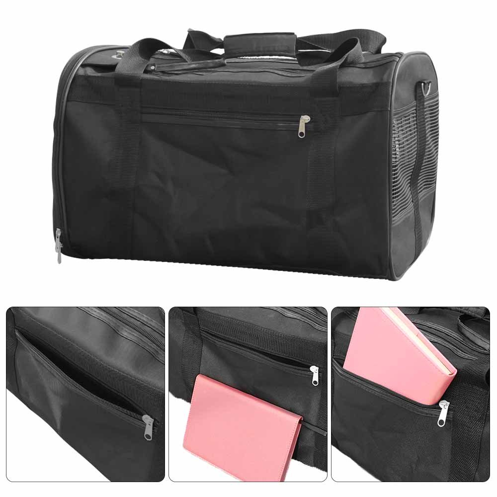 AGOOL Pet Carrier Luxury Large Soft Sided Foldable Pet Travel Tote with Removable Airline Approved Fleece Bedding for for Puppies, Cats and Pets - 19x11x12 inch by AGOOL (Image #4)