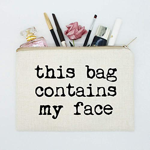 Amazoncom This Bag Contains My Face Makeup Bag Girls Bag Makeup