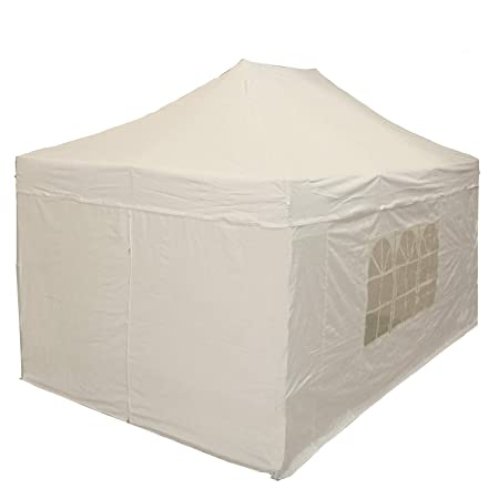 DELTA Canopies 10 x15 Ez Pop up Canopy Party Tent Instant Gazebos 100 Waterproof Top with 4 Removable Sides White – E Model