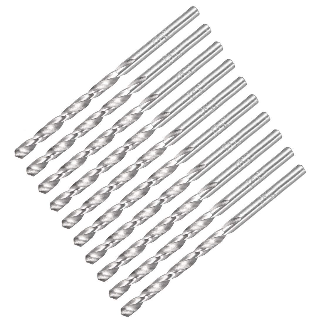 uxcell 1.6mm Twist Drill High Speed Steel Bit HSS-4241 for Steel,Aluminum Alloy 10pcs