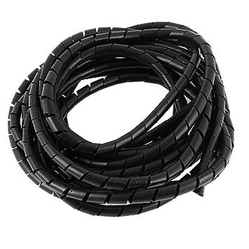 sourcingmap 8mm Schwarz Flexibler Draht Spiral Wickel: Amazon.de ...