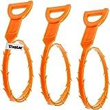 Vastar AG111 3 Pack 23.6 Inch Drain Snake Hair Drain Clog Remover Cleaning Tool