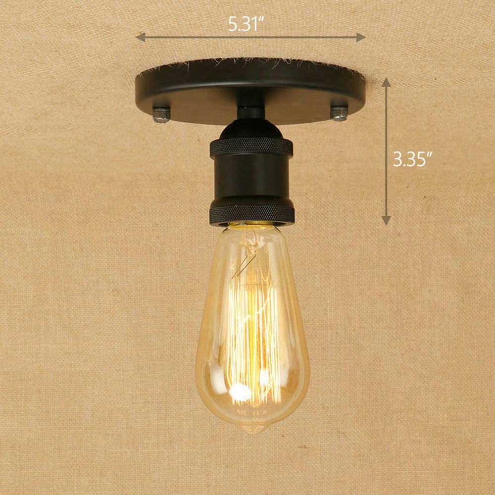 Pendant Lighting Industrial Hanging Lights Semi Flush Mount Ceiling Light Hanging Light Fixture Cord E26 Socket.