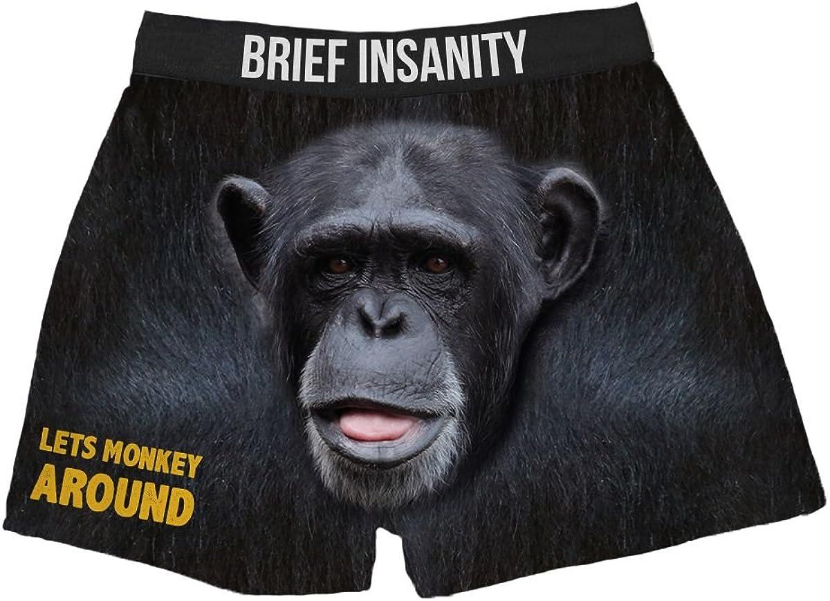 Lets Monkey Around Silky Fun Unisex Briefs Boxer Shorts Gifts for Men Women