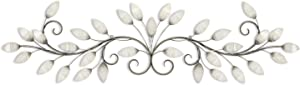 Stratton Home Decor S07736 Brushed Pearl Over The Door Wall Decor, 51.00 W x 1.00 D x 15.00 H, White