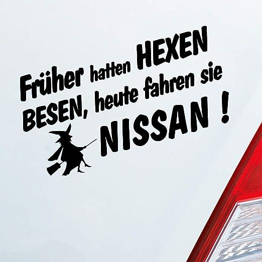 Auto Aufkleber In Deiner Wunschfarbe Frueher Hatten Hexen Besen Heute Fahren Sie Für Nissan Fans 19x10 Cm Sticker Auto
