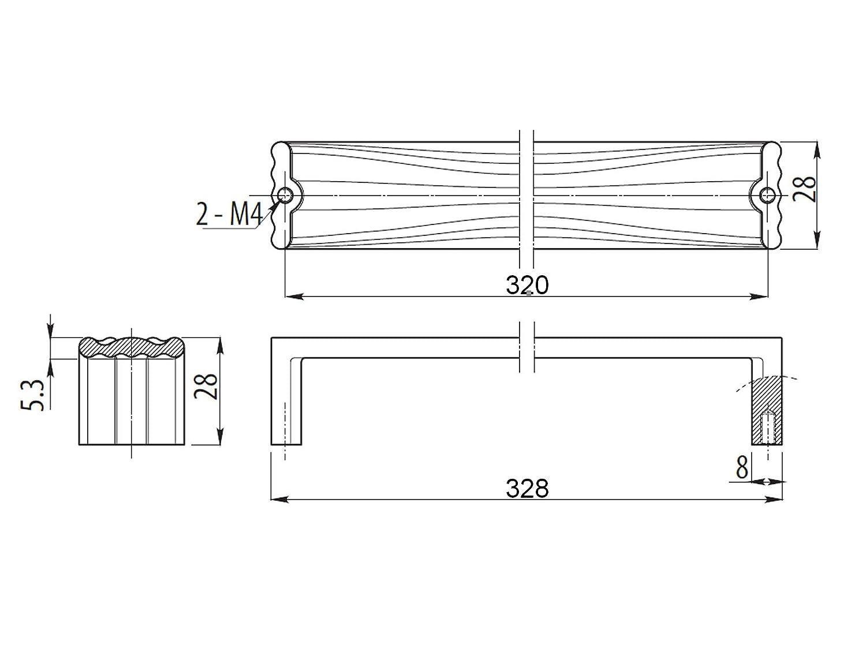 SO-TECH/® M/öbelgriff CADIS Edelstahloptik BA 64 mm M/öbelgriffe Designgriff Designgriffe