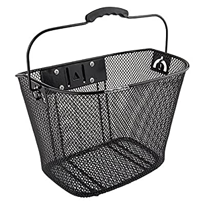 SUNLITE Mesh Quick Release Basket w/Bracket, Black : Bike Baskets : Sports & Outdoors