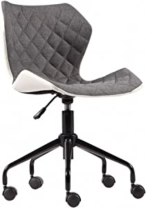 Modern Home Ripple Mid - Back Office Chair, White/Gray