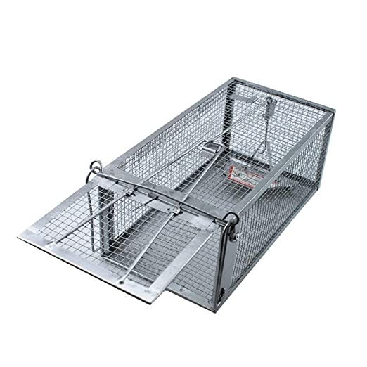 Haosen Jaula Trampa para Ratas Una Puerta 27.5x15x12cm Pedal de ...