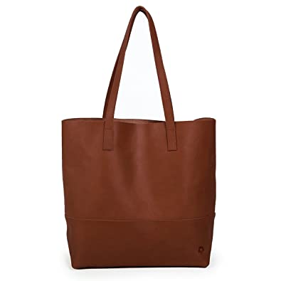 dedb376e4825 Fashionable Mamuye Leather Tote in Chestnut Brown by Able