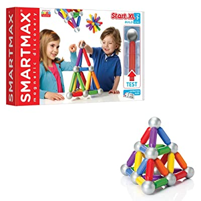 SmartMax Start XL (42 pcs) STEM Magnetic Discovery Building Set Featuring Safe, Extra-Strong, Oversized Building Pieces for Ages 3+: Toys & Games