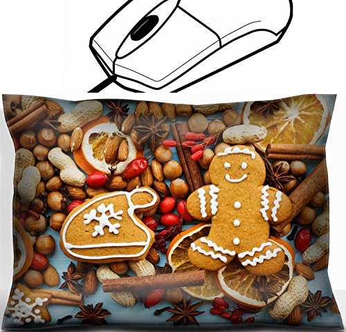 - MSD Mouse Wrist Rest Office Decor Wrist Supporter Pillow design 33412526 Christmas background nuts dried oranges spices and gingerbread cookies Viewed from above