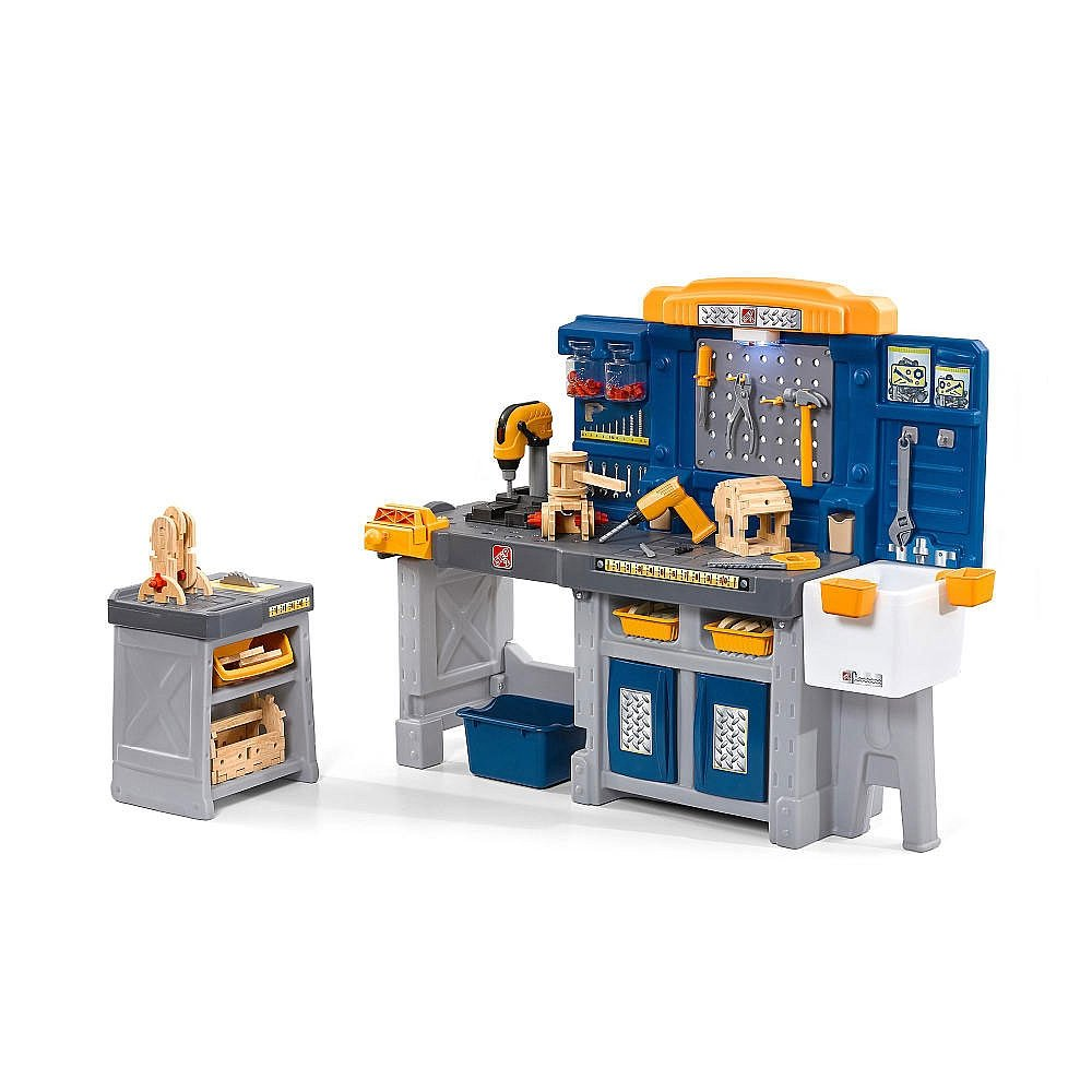 Amazon.com: Just Like Home Pro Play Workshop and Utility Bench: Toys ...