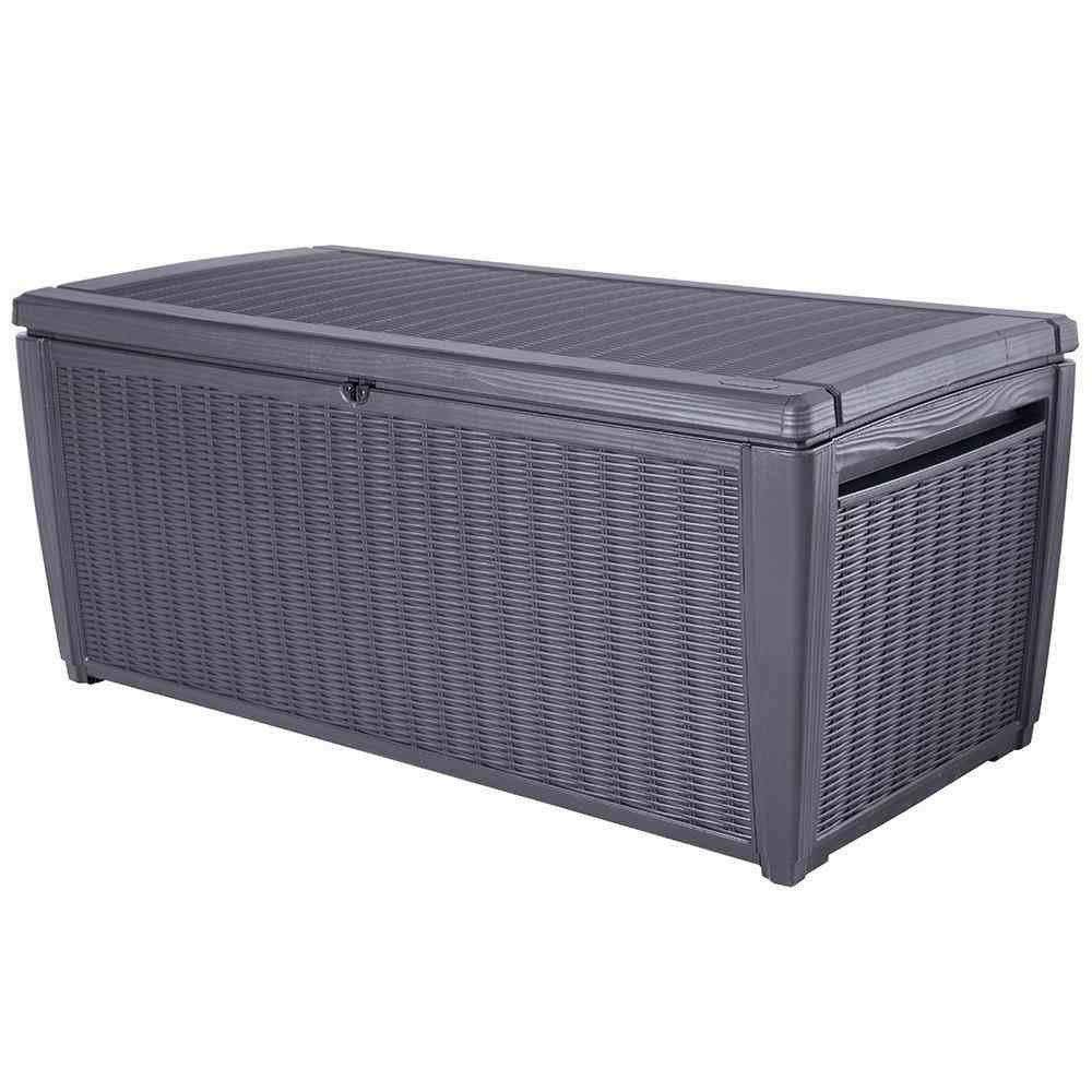 keter kissenbox sumatra grau 511l jetzt kaufen. Black Bedroom Furniture Sets. Home Design Ideas