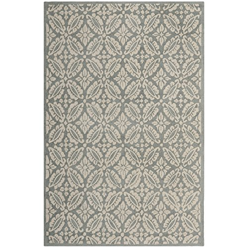 Safavieh Chelsea Collection HK723A Hand-Hooked Blue Premium Wool Area Rug (6' x 9')