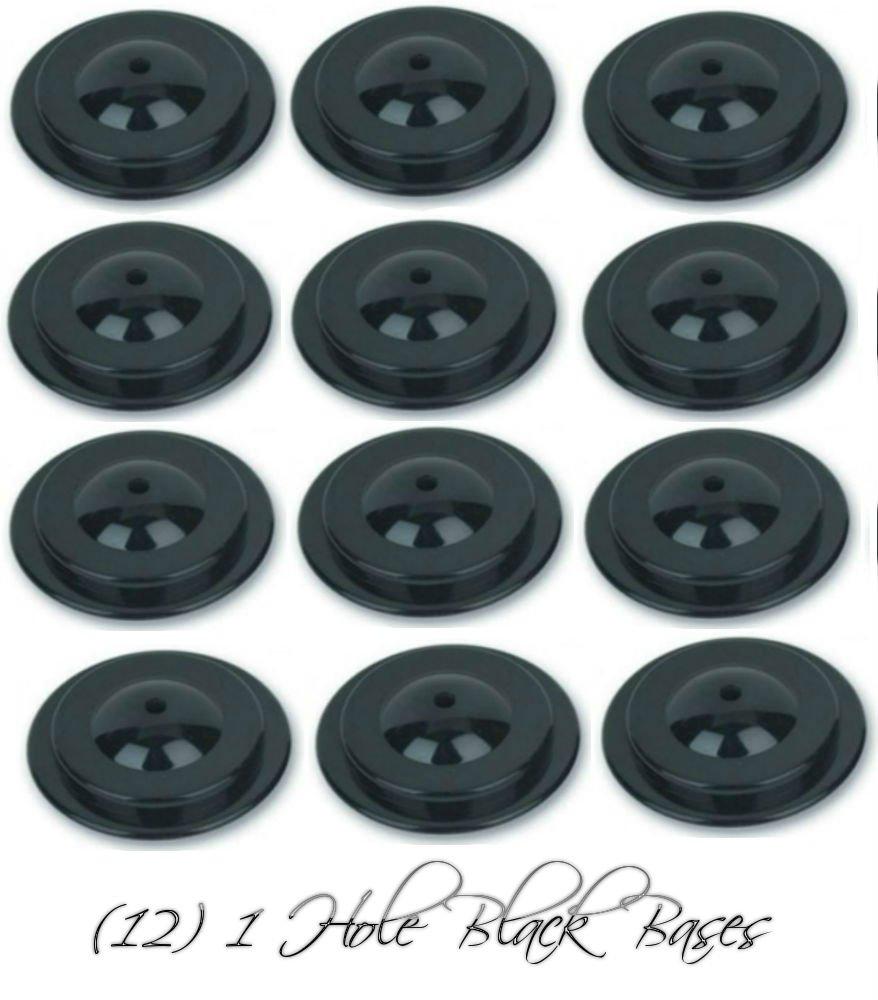 Wholesale Lot 12 One Hole Black Bases For 4''x6'' Stick Desk Flags