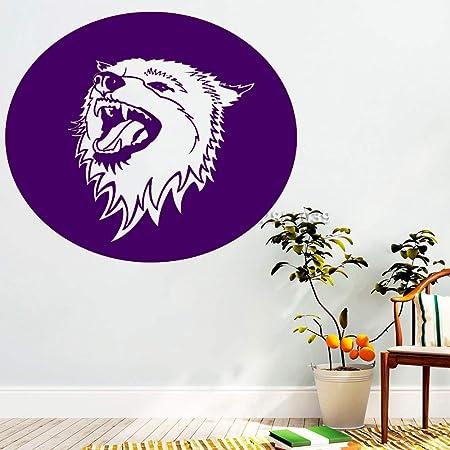 zqyjhkou Cabeza de Lobo Animales Tatuajes de Pared Lobos Signo ...