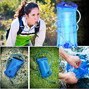 MATT SAGA Water Bladder Hydration Bladder 3 liter 1.5L 2L Water Reservoirs Replacement Hydration Pack Bladder for Camping Hiking Climbing Backpack Outdoor Portable BPA Free Insulated Antimicrobial