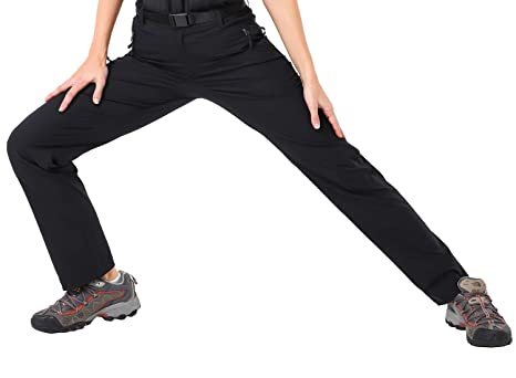 14badf9b2c4fe MIER Women's Lightweight Nylon Hiking Pants Quick Dry Cargo Pants with 5  Zipper Pockets, Water