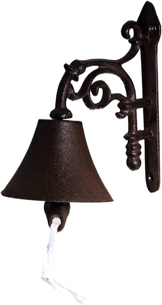 SIDCO® Campana para puerta timbre campana pared – Campana Hierro Fundido Jardín Rústico Campana: Amazon.es: Jardín
