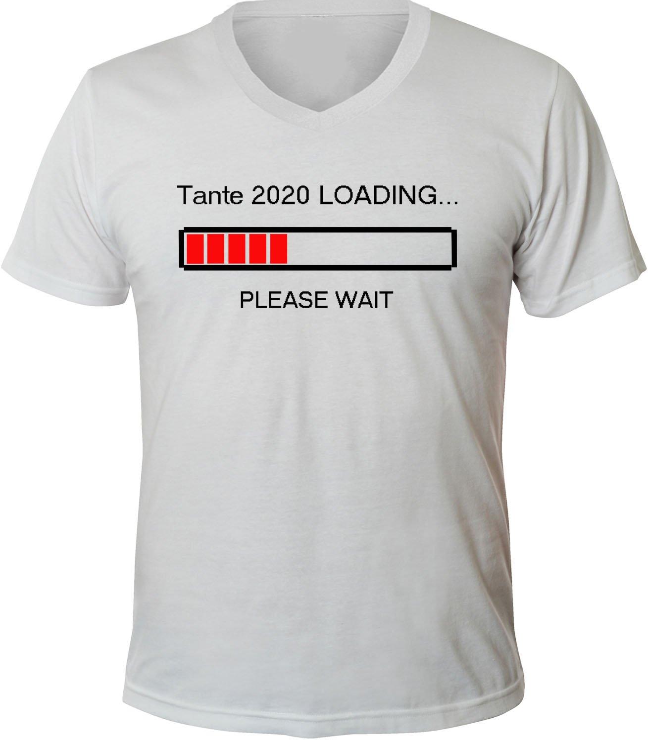 Mister Merchandise Herren Men V-Ausschnitt T-Shirt Tante 2020 Loading Tee  Shirt Neck Bedruckt: Amazon.de: Bekleidung