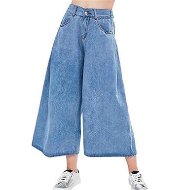 ad1a6258c254b Amazon.com: Costumeed Jeans Pants Retro Loose High Waist Wide Leg Pants  Women Denim Wide Leg Jeans Ladies Jeans Trousers Vaqueros Mujer: Clothing