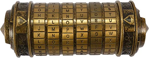 The Da Vinci Code Alphabet Lock Mini Cryptex Die Cast Collectible Toys Gift