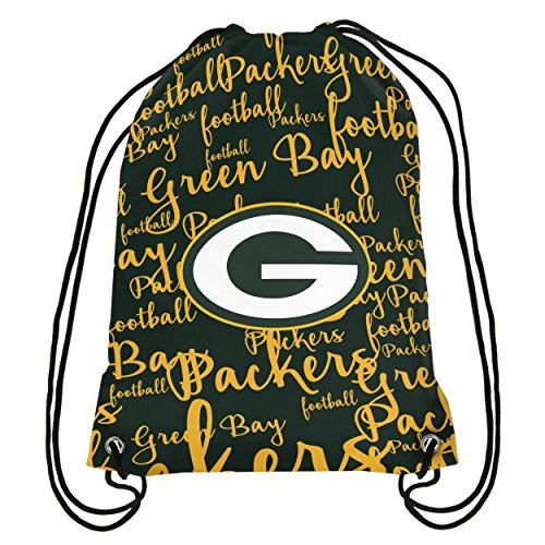 Green Bay Packers Womens Script Drawstring Backpack ()